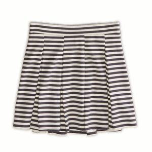 American Eagle Outfitters Striped Pleated Skirt